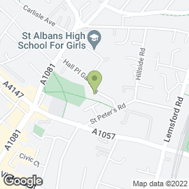 Map of Maple Primary School in St. Albans, hertfordshire