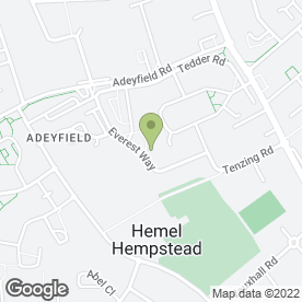 Map of Everest House Surgery in Hemel Hempstead, hertfordshire