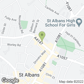 Map of Hertfordshire Community Meals in St. Albans, hertfordshire