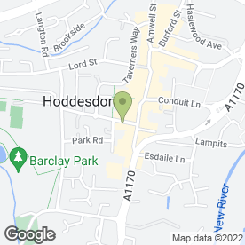 Map of Sally B's in Hoddesdon, hertfordshire