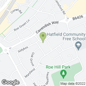 Map of S S Consultants UK Ltd in Hatfield, hertfordshire