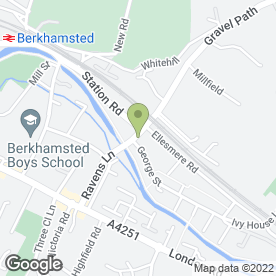 Map of The Boat in Berkhamsted, hertfordshire
