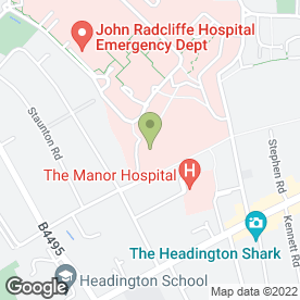 Map of Sandfield Day Nursery in Headington, Oxford, oxfordshire