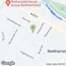 Map of Peter Grimshaw Hair in Berkhamsted, hertfordshire