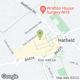Map of De Joint Restaurants & Night Clubs in Hatfield, hertfordshire