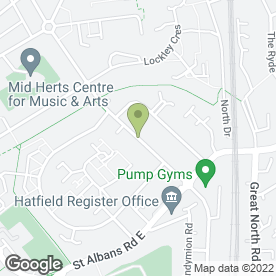 Map of Power Cuts in Hatfield, hertfordshire