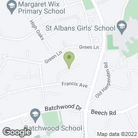 Map of Dave Parsons Painting & Decorating in St. Albans, hertfordshire