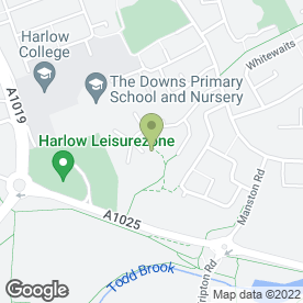 Map of FLORAL CABIN in HARLOW, essex