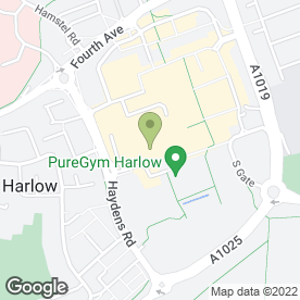 Map of Rileys Sports Bar in Harlow, essex