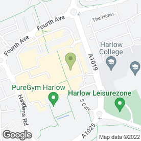 Map of O2 in Harlow, essex