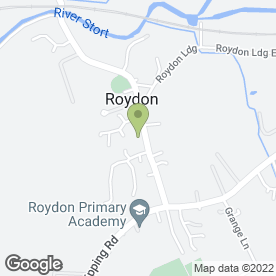 Map of The New Inn in Roydon, Harlow, essex