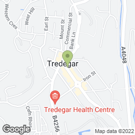 Map of Dog Designs in Tredegar, gwent