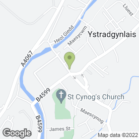 Map of Rice & Spice in Ystradgynlais, Swansea, west glamorgan
