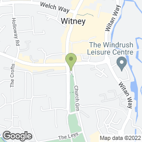Map of Church Green Cafe in Witney, oxfordshire