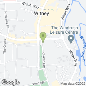 Map of ReesRussell Taxation Services Ltd in Witney, oxfordshire