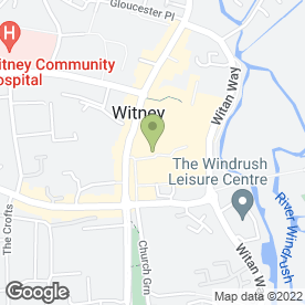 Map of The Woolgate Centre in Witney, oxfordshire