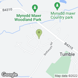 Map of The Caci Clinic in Tumble, Llanelli, dyfed