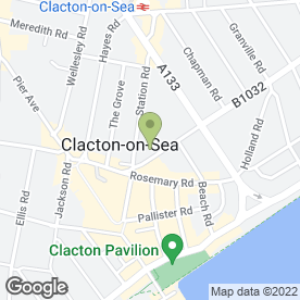 Map of Oxygen Salons Ltd in Clacton-On-Sea, essex