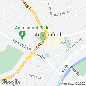Map of The Taxi Shop in Ammanford, dyfed
