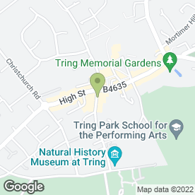 Map of China Town in Tring, hertfordshire