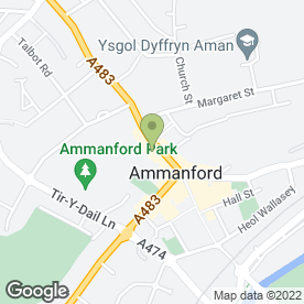 Map of Peppinos Pizza in Ammanford, dyfed