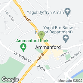 Map of iSmooth Community Cafe in Ammanford, dyfed