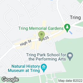 Map of HSBC Bank plc in Tring, hertfordshire