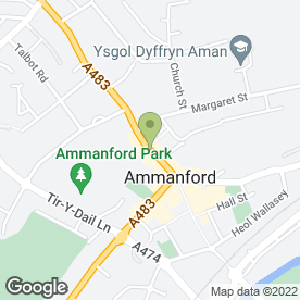 Map of AMMANFORD-GARY JONES SOLICITORS in Ammanford, dyfed
