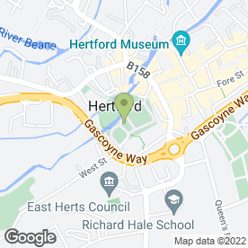 Map of Hertford Castle in Hertford, hertfordshire