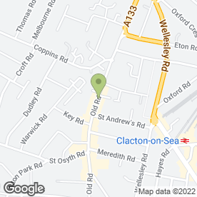 Map of Bread & Butter in Clacton-On-Sea, essex