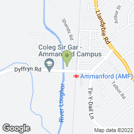 Map of B & R Factors Ltd in Ammanford, dyfed