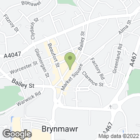 Map of Altered Images in Brynmawr, Ebbw Vale, gwent