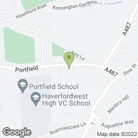 Map of Portfield Print in Haverfordwest, dyfed