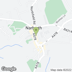 Map of Next Door in Narberth, dyfed