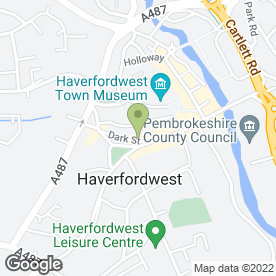 Map of Eaton-Evans & Morris in Haverfordwest, dyfed