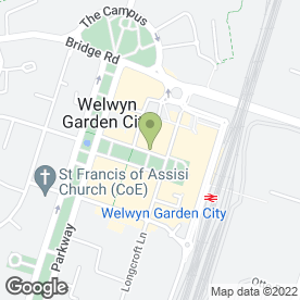 Map of Ask Welwyn Garden in Welwyn Garden City, hertfordshire