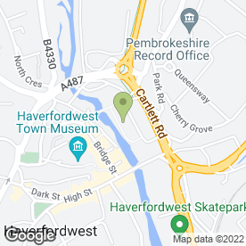 Map of VOGUE SKINCARE & BEAUTY CLINIC in Haverfordwest, dyfed