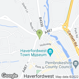 Map of Fred Rees Garages Ltd in Haverfordwest, dyfed