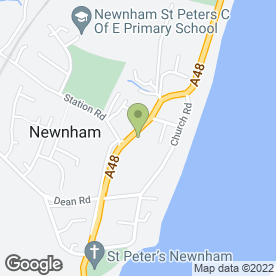 Map of Newnham & Westbury Surgery in Newnham, gloucestershire