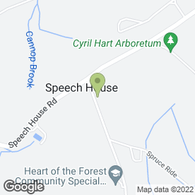 Map of Heart of the Forest Community Special School in Speech House, Coleford, gloucestershire