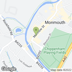 Map of Chippenham Surgery in Monmouth, gwent