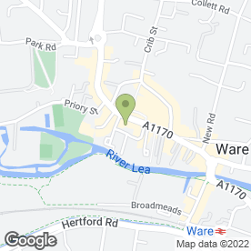 Map of Body Matters in Ware, hertfordshire