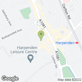 Map of Harold M Smith BSc (Hons), F.B.O.A, F.S.M.C. in Harpenden, hertfordshire
