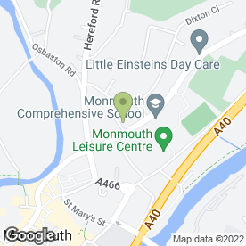Map of Dixton Surgery in Monmouth, gwent