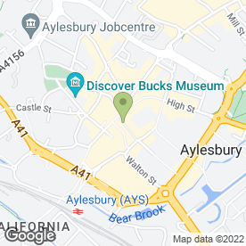 Map of Vodafone Ltd in Aylesbury, buckinghamshire