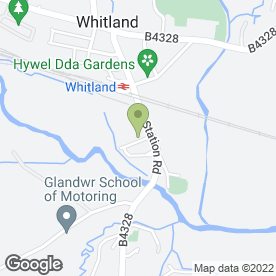 Map of Wynne Phillips Truck Centre in Whitland, dyfed