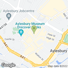 Map of Top Friars in Aylesbury, buckinghamshire