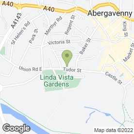 Map of Tudor Gate Surgery in Abergavenny, gwent