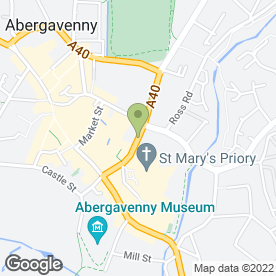 Map of Clare Johnson Podiatrist in Abergavenny, gwent