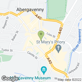 Map of Pizzorante in Abergavenny, gwent